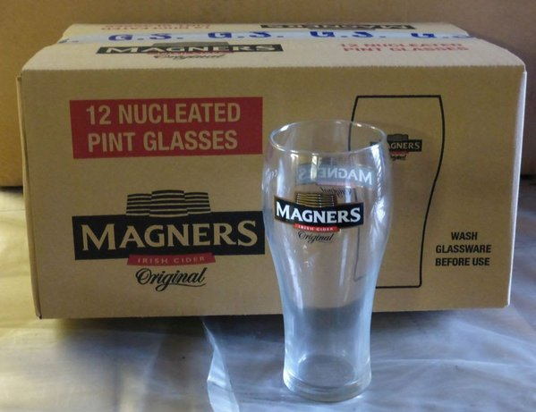 Job lot 60 Magners Pint Glasses