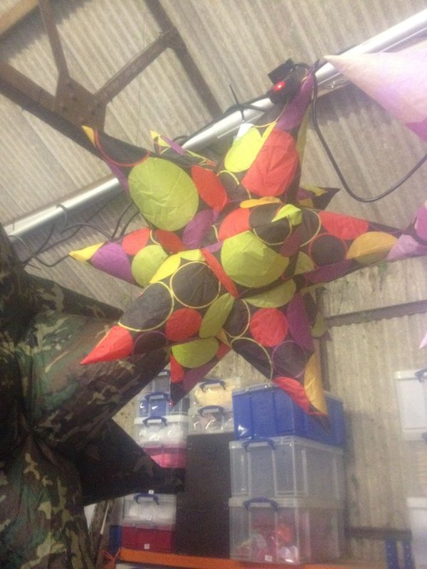 Colourful Inflatable Stars