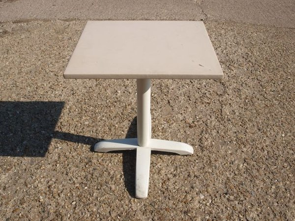 Two Seater Restaurant Pedestal Tables with Vinyl Covered Top