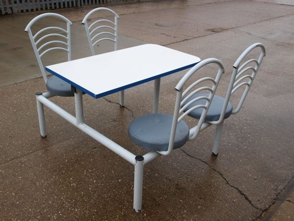 Four Seater Cafeteria Style Table & Chair Units  for sale