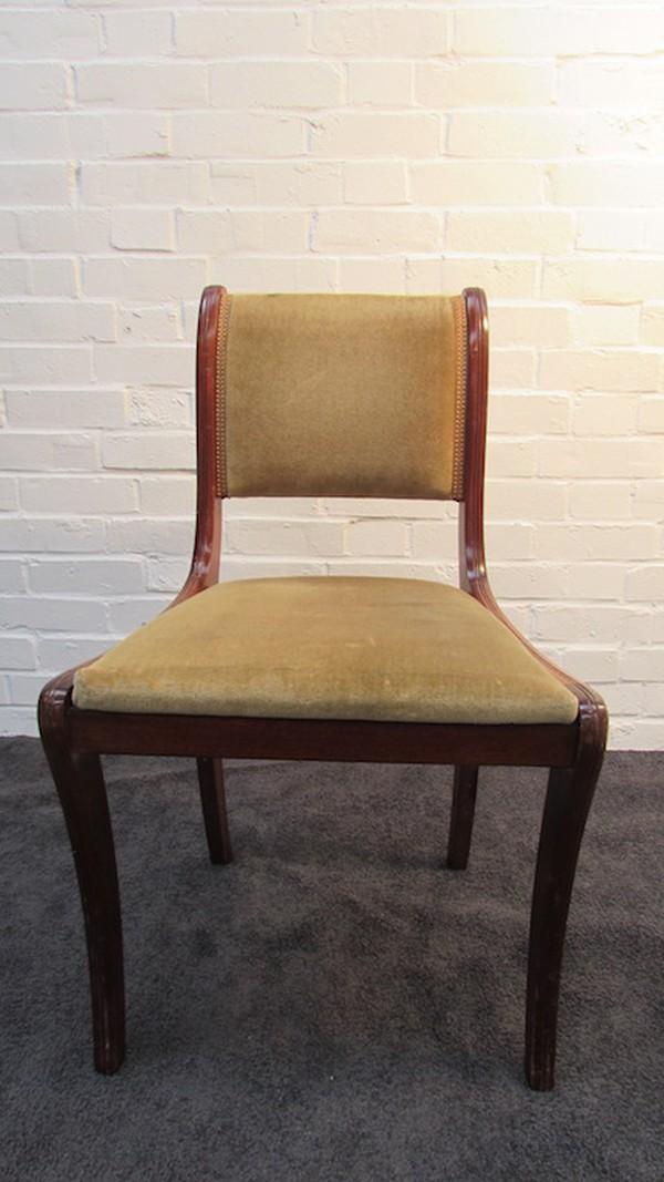 Mahogany dining chairs