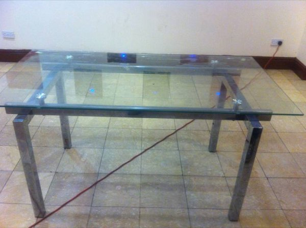 12x Rectangle Glass Tables 150cm x 80cm