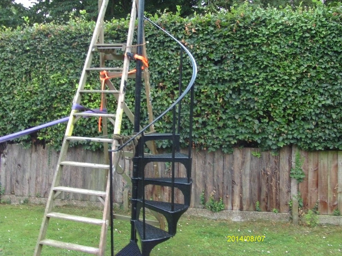Marvelous ... Reclaimed Black Spiral Staircase ...