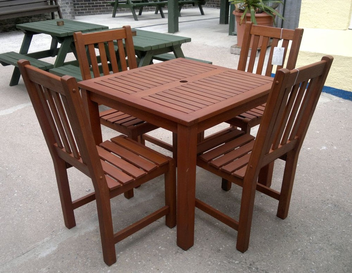 secondhand chairs and tables outdoor furniture outside contract