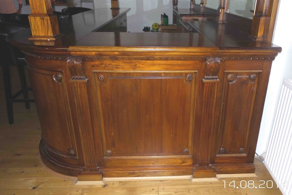 buy traditional solid mahogany bar and canopy