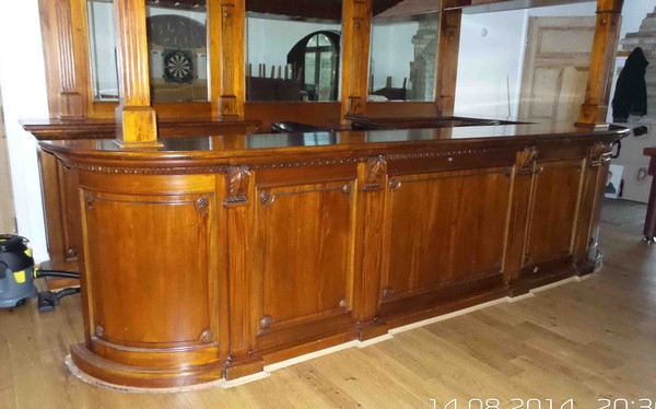 solid mahogany bar and canopy