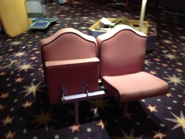Mecca bingo hall tip up seats