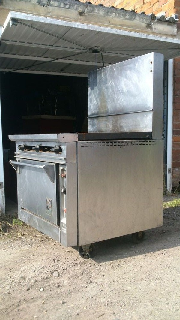 Wolf 6 burner flat top double oven