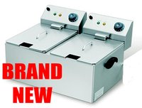Electric Double Table Top Fryer for sale