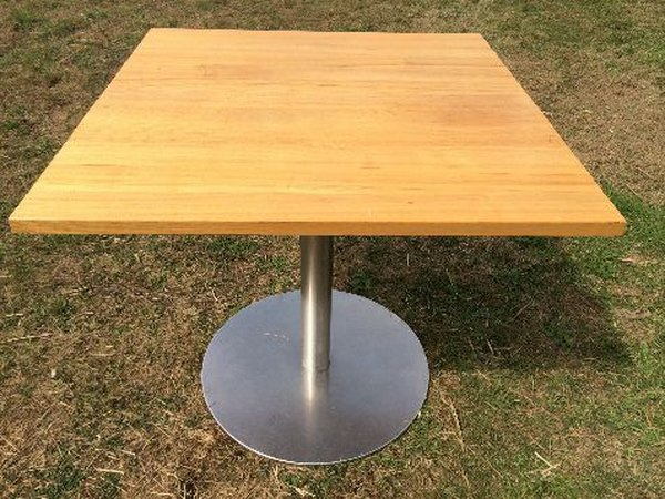 Square beech restaurant table