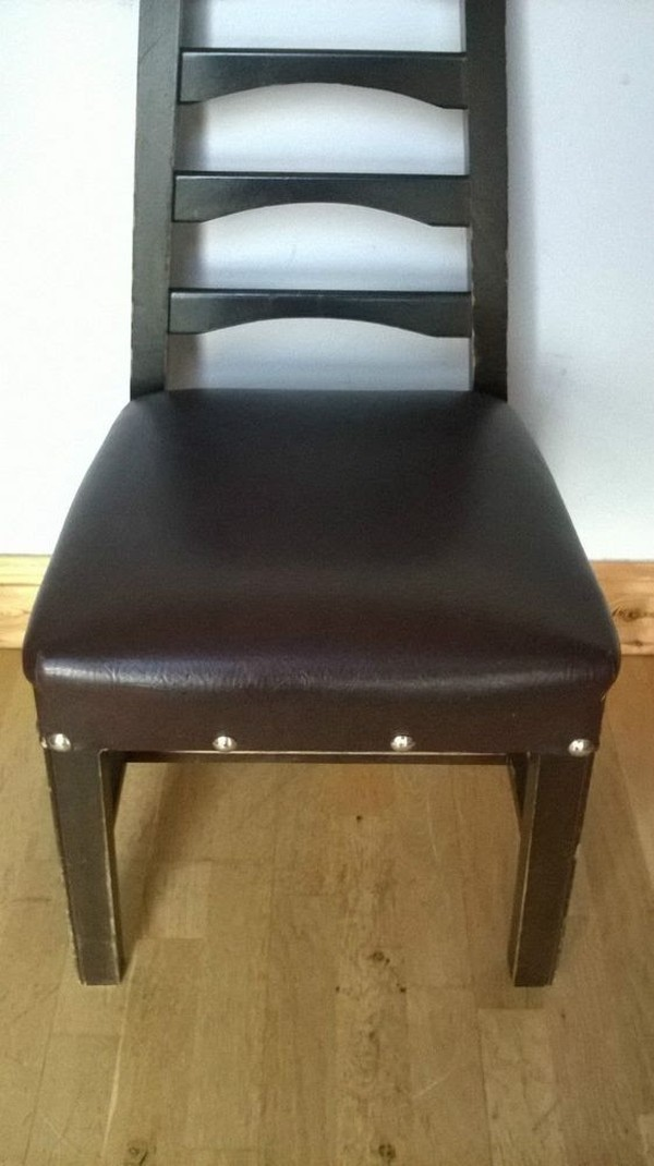 Vintage Leather Church Chairs