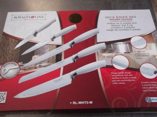 White Royalty Line 5 Piece Knife Set