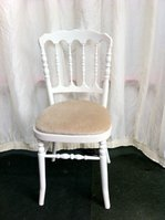 White Napoleon style banqueting chairs