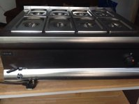 8 pot stainless steel wet Bain Marie
