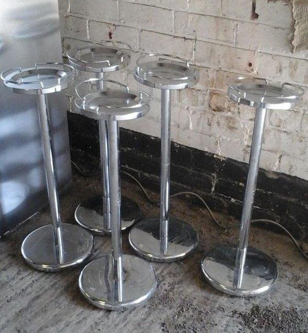 6 Stylish Chrome Wine Stands
