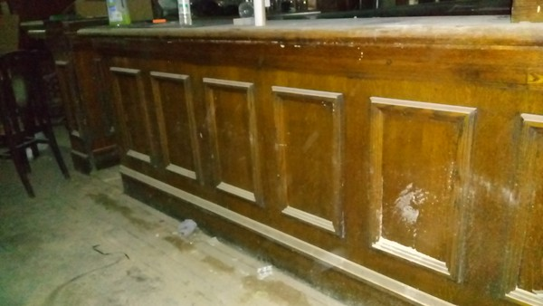Second hand solid wooden bar