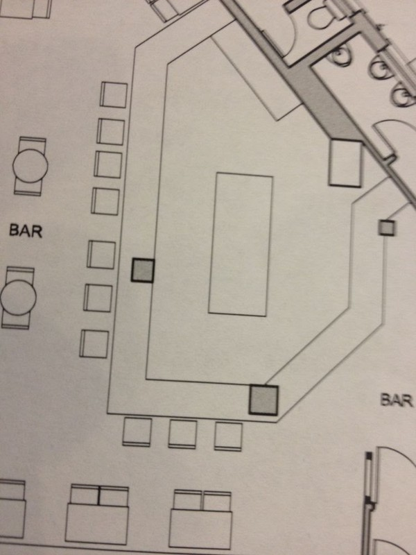 Solid wood Pub bar plan