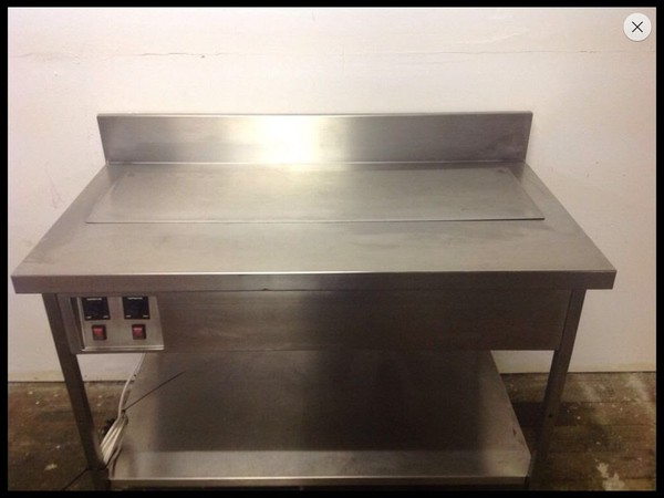 Bain marie with blanking plate