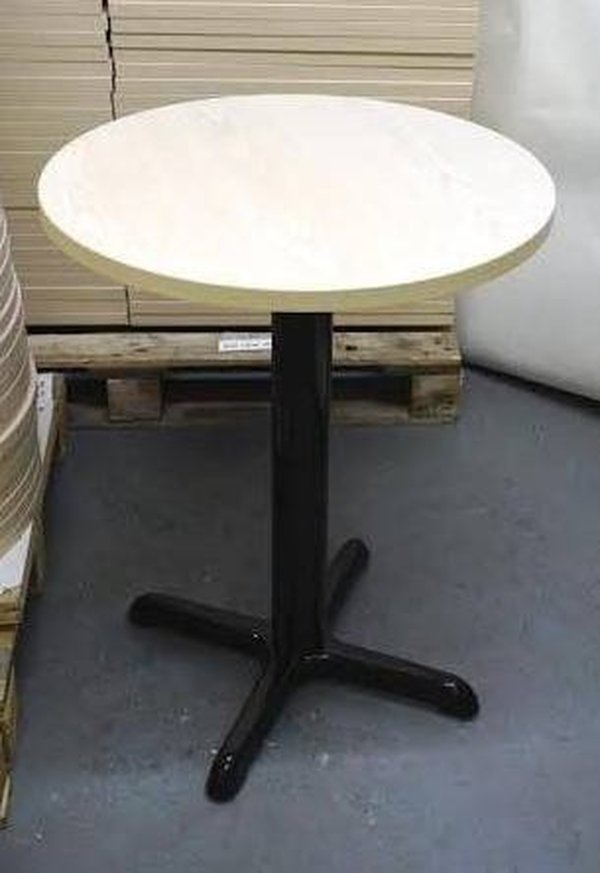 Tables with cast Iron bases