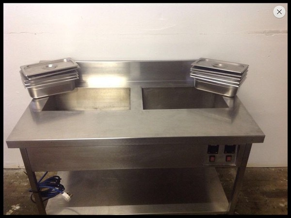 Buy Used salad pizza prep bench