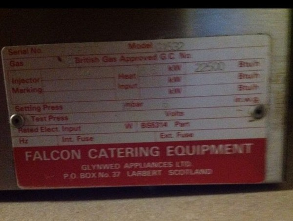 Falcon Steakhouse Grill for sale