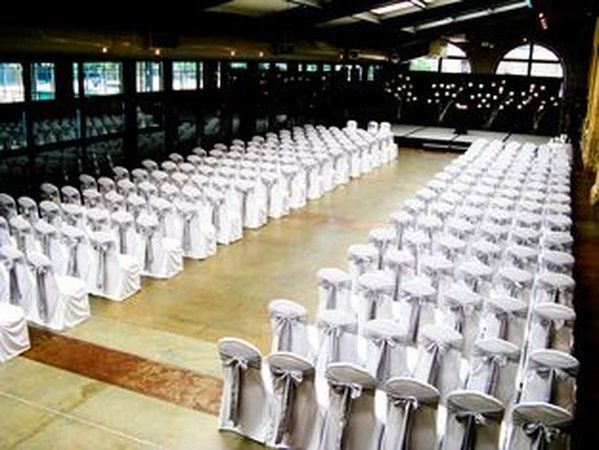 White Light Sky Blue Chair Covers
