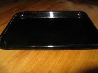 Black durable dish-washer safe acrylic tray
