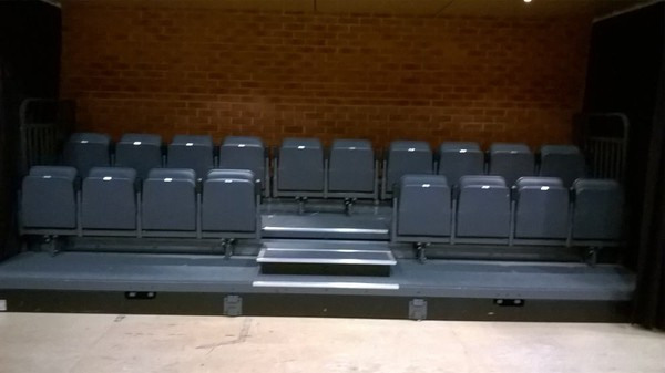 raked seating audience seating