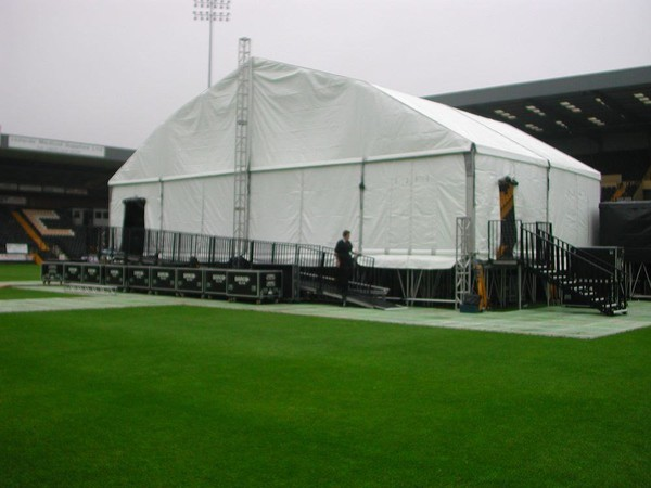 Portable stage canopy