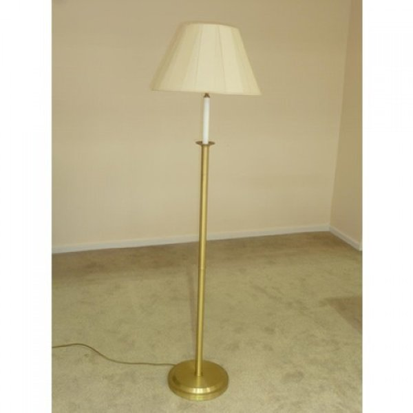 Tall brass floor standing lamp
