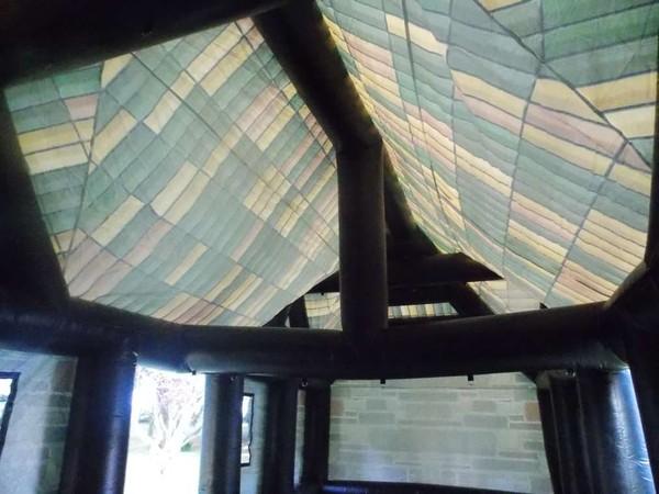 Blow up pub ceiling inside