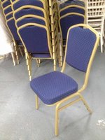 Blue banquet chairs