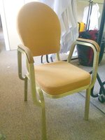 Gold banqueting chairs with arms