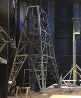 Radio mast prop