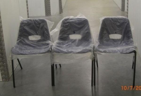 Multi purpose stacking polypropylene chair
