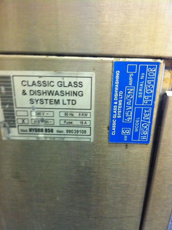 Hydro 850 Glass and dishwasher product info