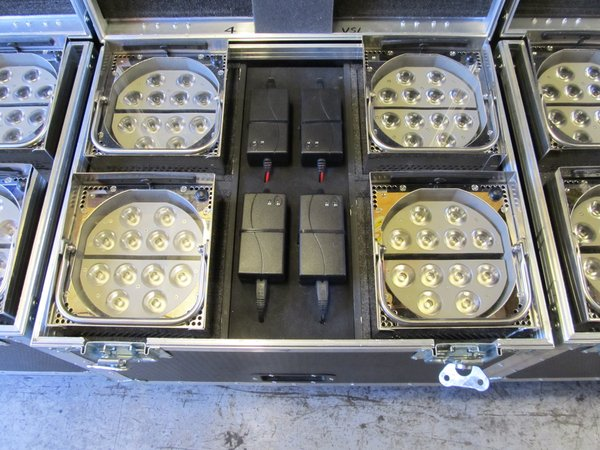20 Showtec Eventspot 1900 Mk 1 Battery/ Wireless Up-Lighters for sale