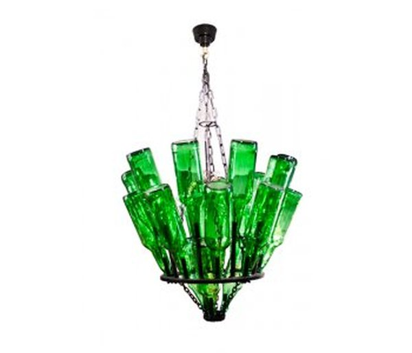 Bottle Chandelier by Old Iron