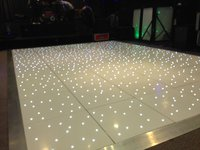 10ft x 10ft white led wireless starlight Dancefloor