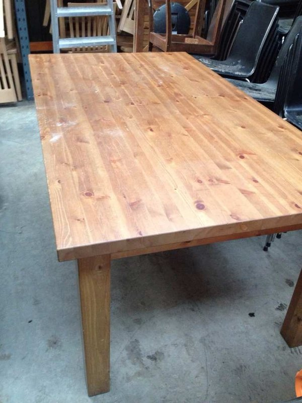 light wooden tables