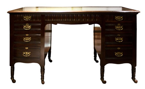 Mahogany Edwardian One Piece Kneehole Desk