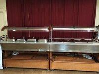 Bain Marie Hot Buffet Display/Wet Well on Castors