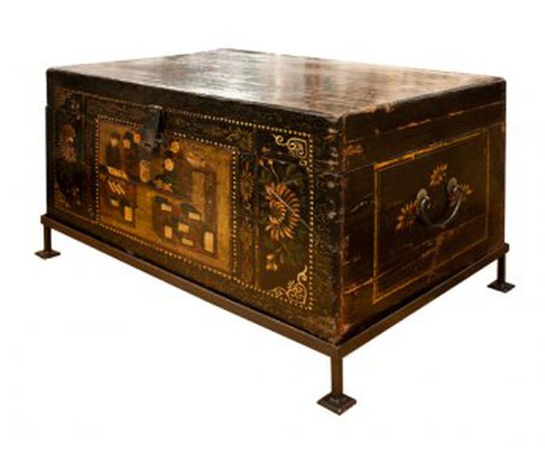 Chinese Wooden Painted Trunk