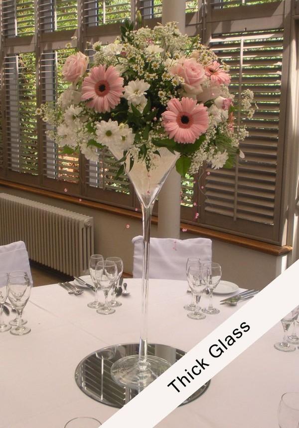 60cm Heavy Duty Martini Vase centre piece