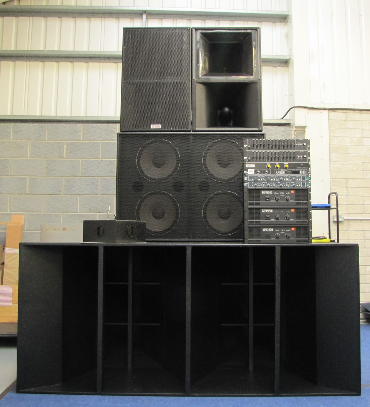 secondhand sound and lighting equipment pa systems phazon 4 stack pa system complete south. Black Bedroom Furniture Sets. Home Design Ideas