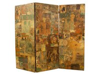 Edwardian Scrap Decoupage Screen c.1910