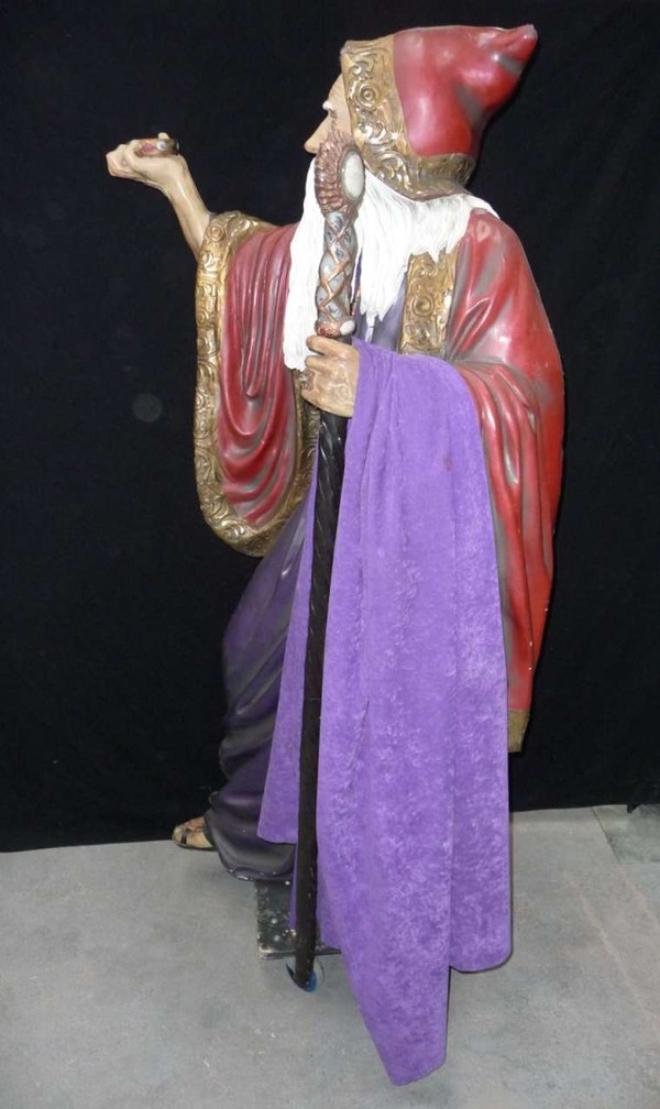 Life size merlin statue