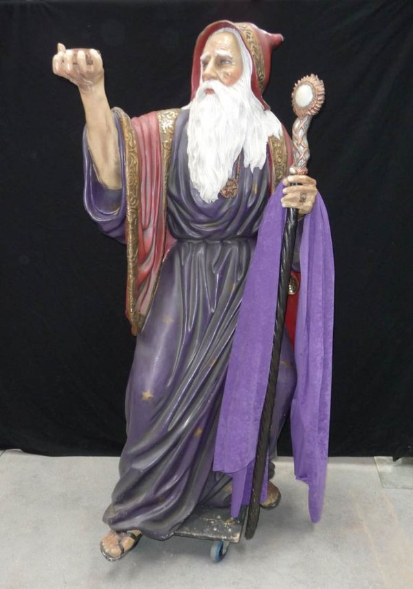 Merlin The Magician Wizard Life Size Statue