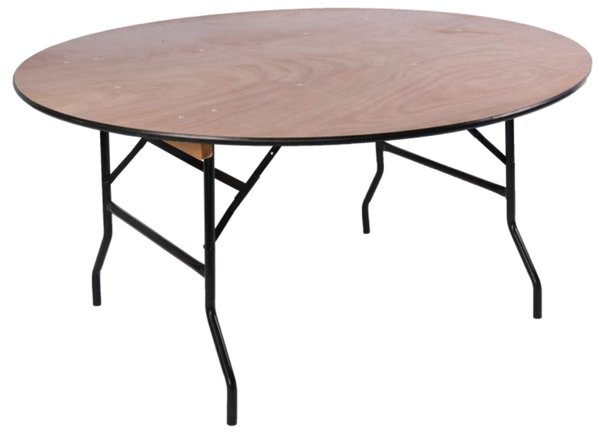 5ft & 6ft Wooden Round Banqueting Tables.