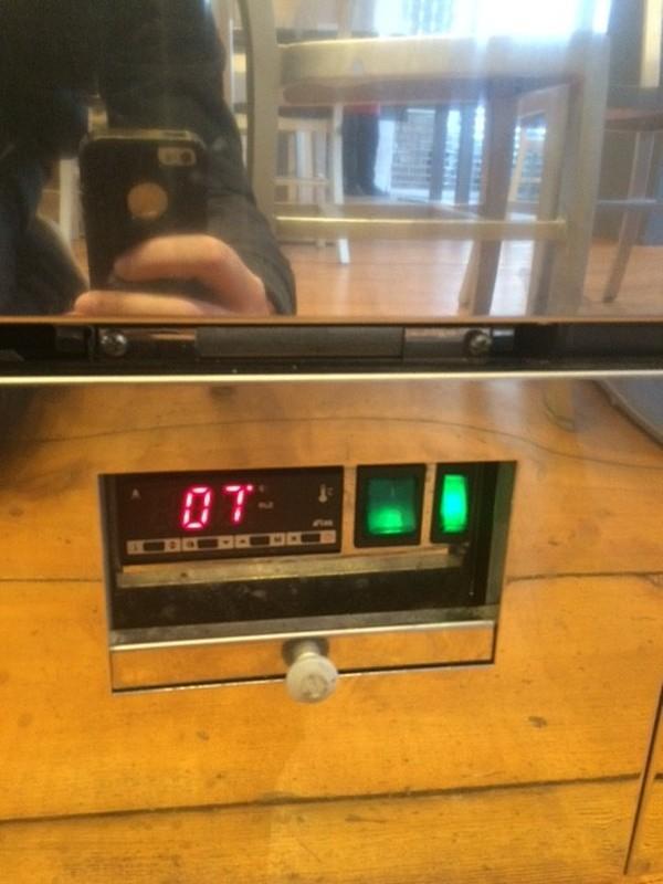 Multideck display fridge temperature controls